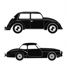 silhouette cars vector image vector image