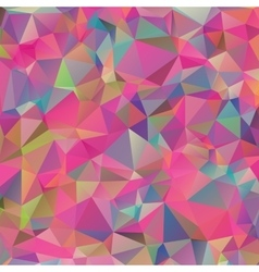Abstract colorful geometric triangle background vector image