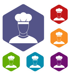cook icons set vector image