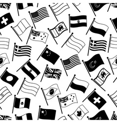 curved flags of different country seamless pattern vector image vector image
