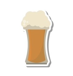 fresh beer glass isolated icon vector image