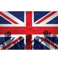 Open hand raised multi purpose concept UK United vector image