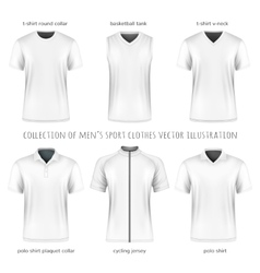 Collection of men sport clothes vector image vector image