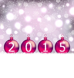 Happy New Year in glass balls - vector image vector image