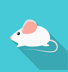 house mouse icon in flate style isolated on white vector image vector image