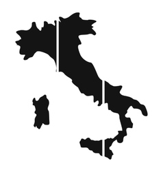 Map of Italy icon simple style vector image vector image