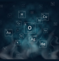scientific background with chemical vector image vector image