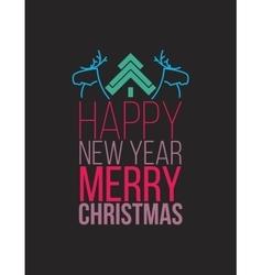 Simple Christmas poste flat design vector image