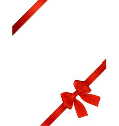 Card With Red Bow vector image