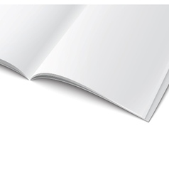 Close-up of blank opened magazine template vector image