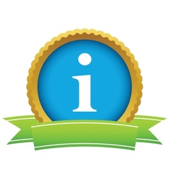 Gold info logo vector image