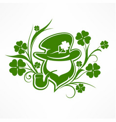 leprechaun lucky symbols vector image vector image