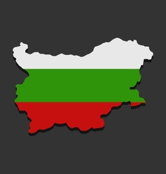 map of bulgaria with flag vector image