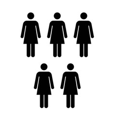 People icon group of women team pictogram glyph vector