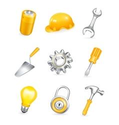 Repair icon set vector image vector image