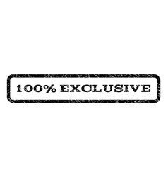 100 percent exclusive watermark stamp vector