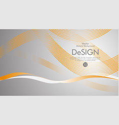 abstract background with orange wavy lines with a vector image