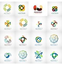 Abstract company logo collection vector image
