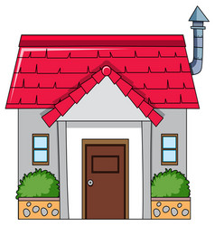 an isolated simple house vector image