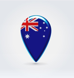 Australian icon point for map vector