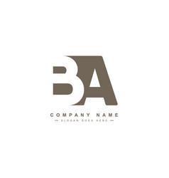 Ba initial letter logo - minimal logo vector