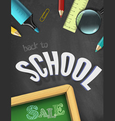back to school sale title words with vector image