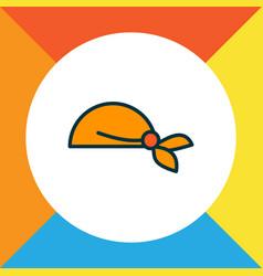 Bandanna icon colored line symbol premium quality vector