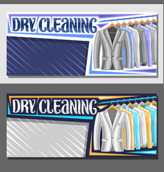 Banners for dry cleaning vector