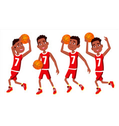 basketball player child set in action vector image