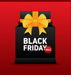 black friday sale promotion concept banner with vector image