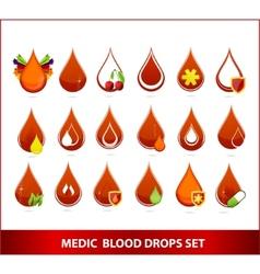Blood drips set vector