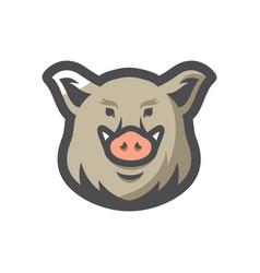 boar head wild pig icon cartoon vector image