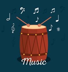 Bongo tropical instrument icon vector