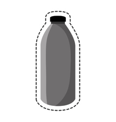 Bottle glass drink isolated icon vector
