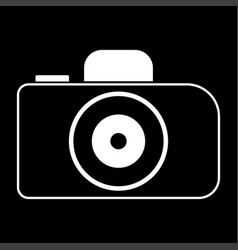 Camera the white color icon vector