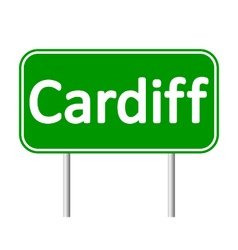 Cardiff road sign vector
