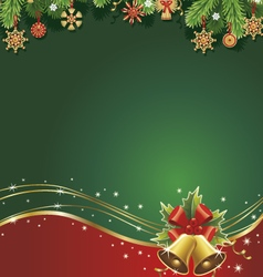 Christmas backgroundtraditional straw decorations vector