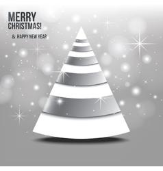 Christmas card with abstract christmas tree vector image