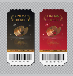 cinema tickets isolated set vector image