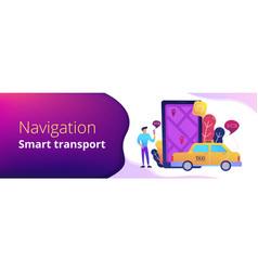 city navigation apps smart city header banner vector image