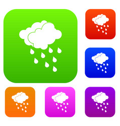 Clouds and water drops set collection vector