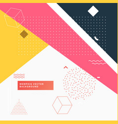 Colorful abstract geometric memphis background vector