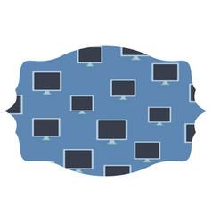 Computer screen label frame vector