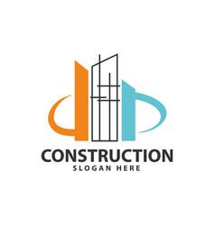 Construction industry repair build logo design vector
