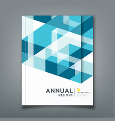 cover report triangle and square geometry abstract vector image