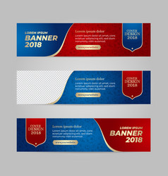 design banner web template vector image