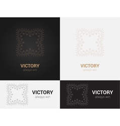 Design templates in black grey and golden colors vector