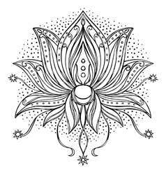 Doodle Lotus Sign vector