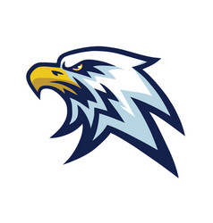 Eagle head mascot sports team logo template vector