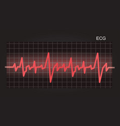 Ecg electrocardiograph background vector